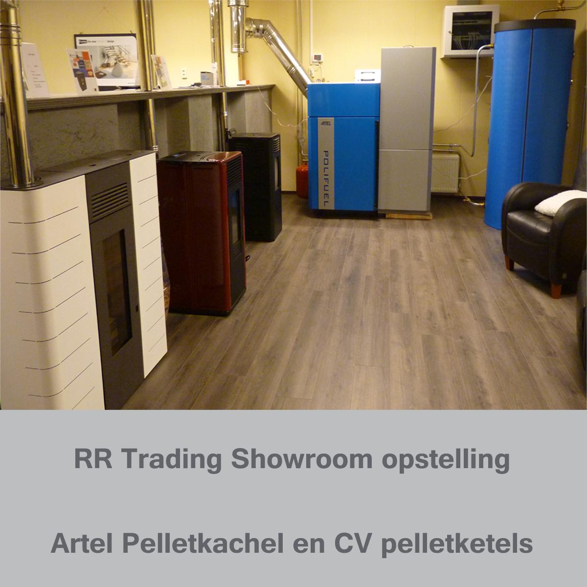 Artel pelletkachel showroom