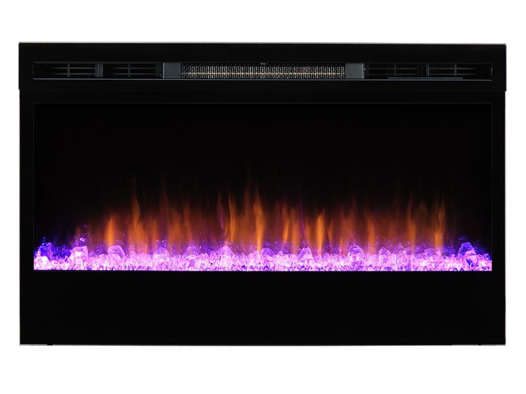 Elektrische haard met warmteafgifte