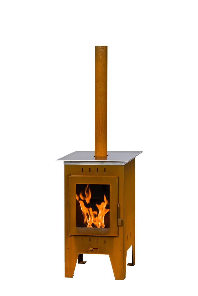 Buitenhaard cortenstaal met grillplaat NextPall
