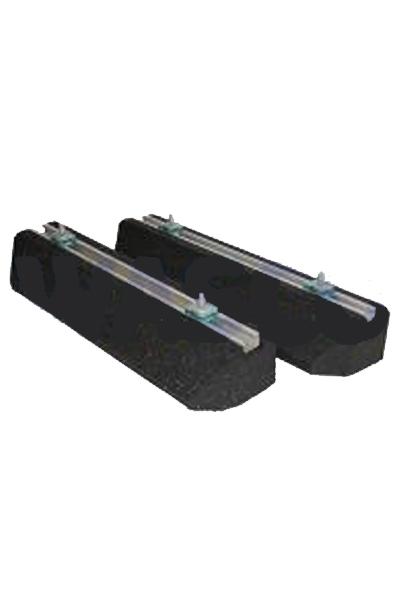 Set rubber voeten plus bevestigingsbouten 60 cm