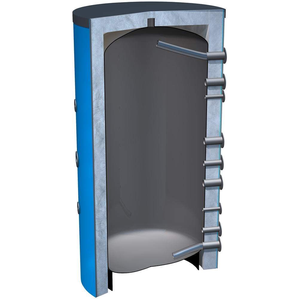 Buffer vat 500 liter zonder warmte wisselaar