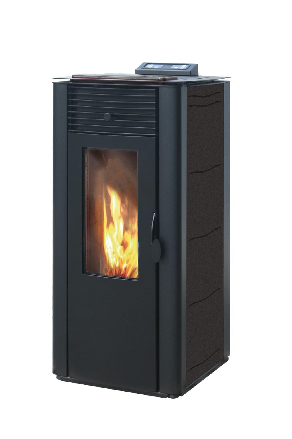 Pelletkachel CV 15 kW  zwart/grijs