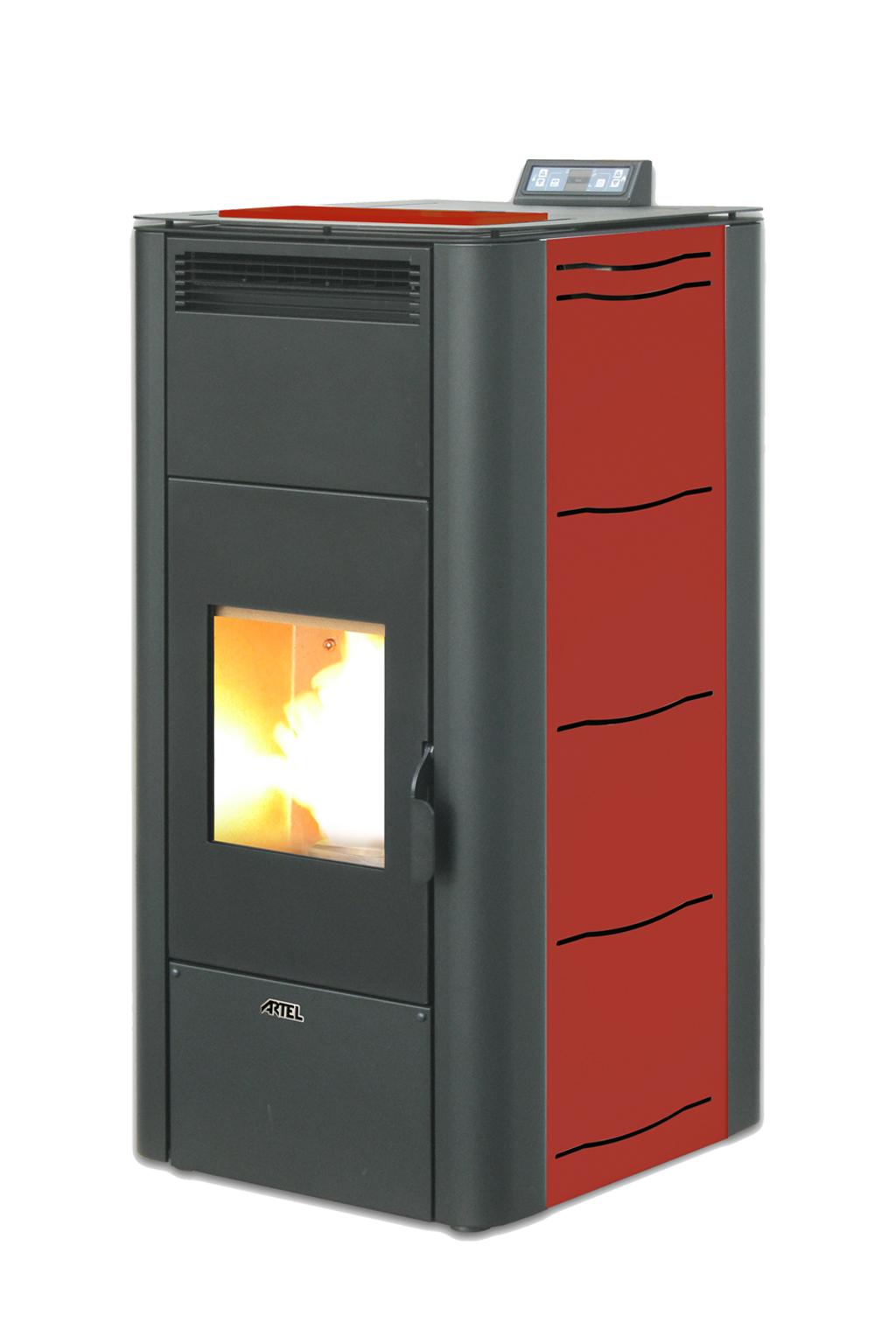 Pelletkachel CV 24 kW rood