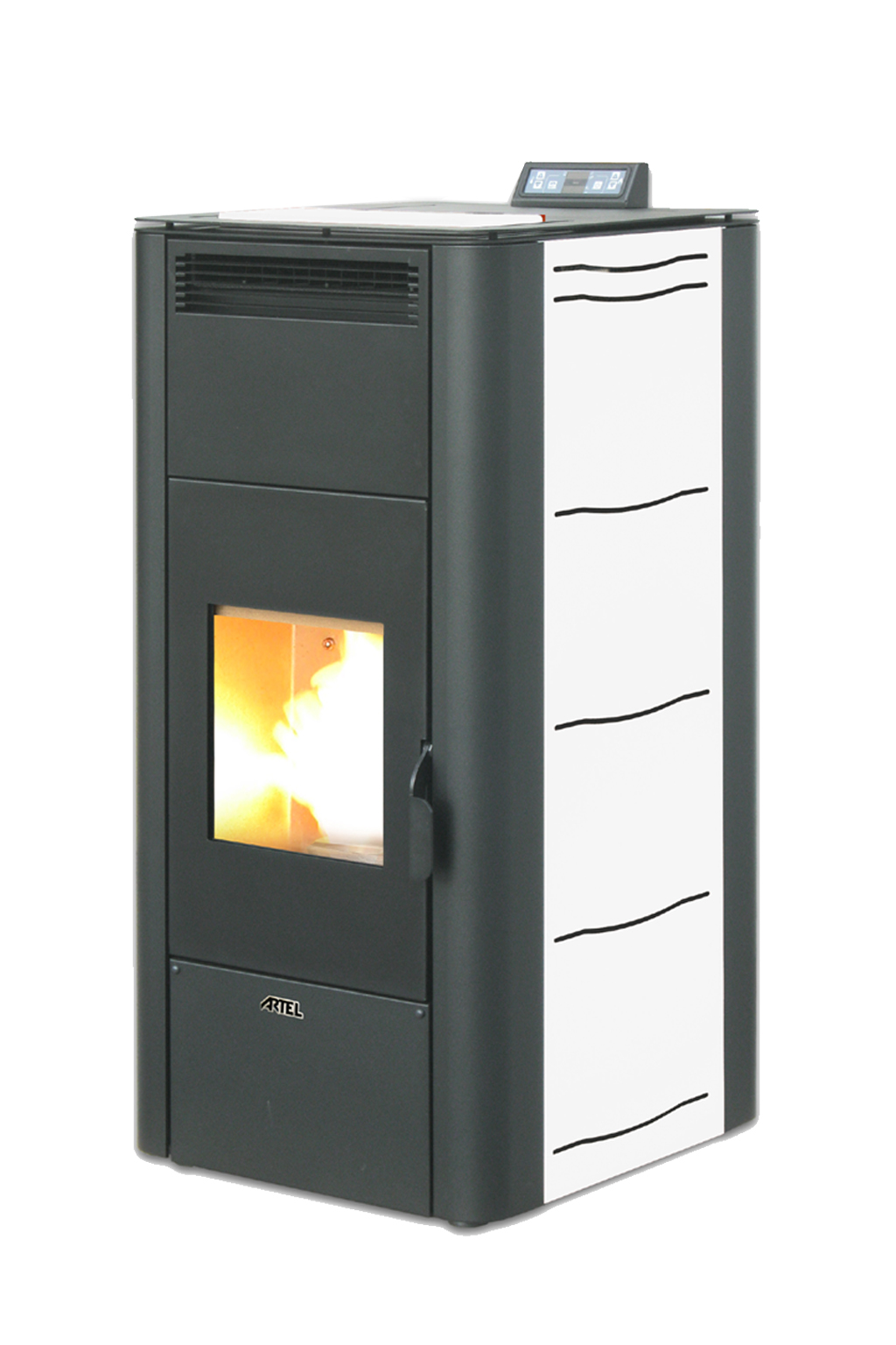 Pelletkachel cv 24 kW wit
