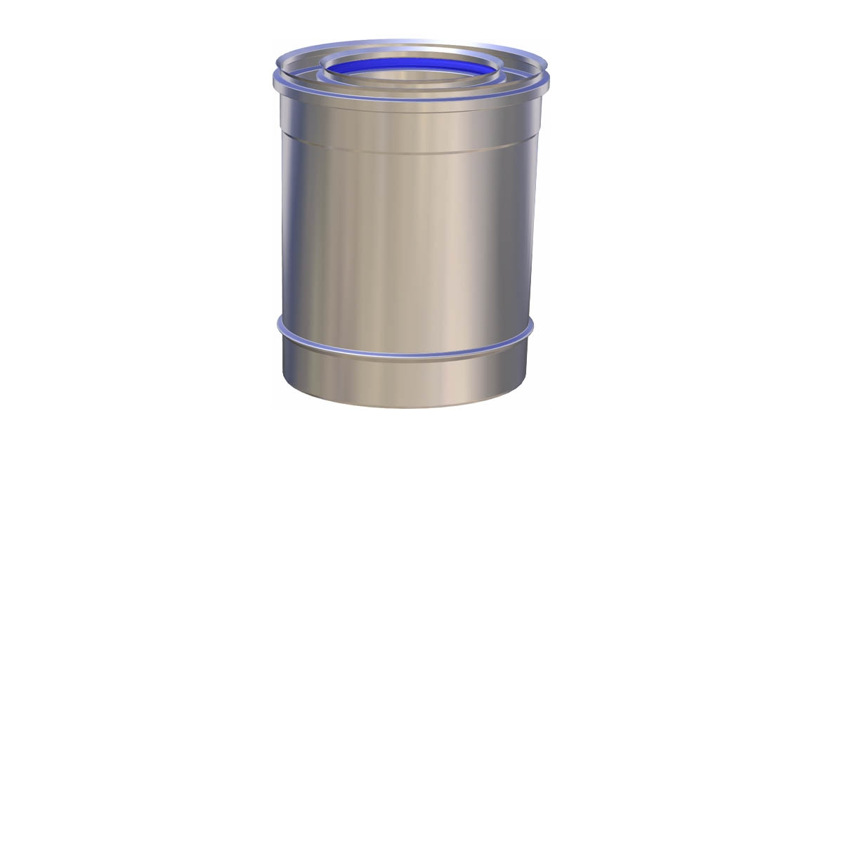 Concentrisch kachelpijp pelletkachel 25 cm