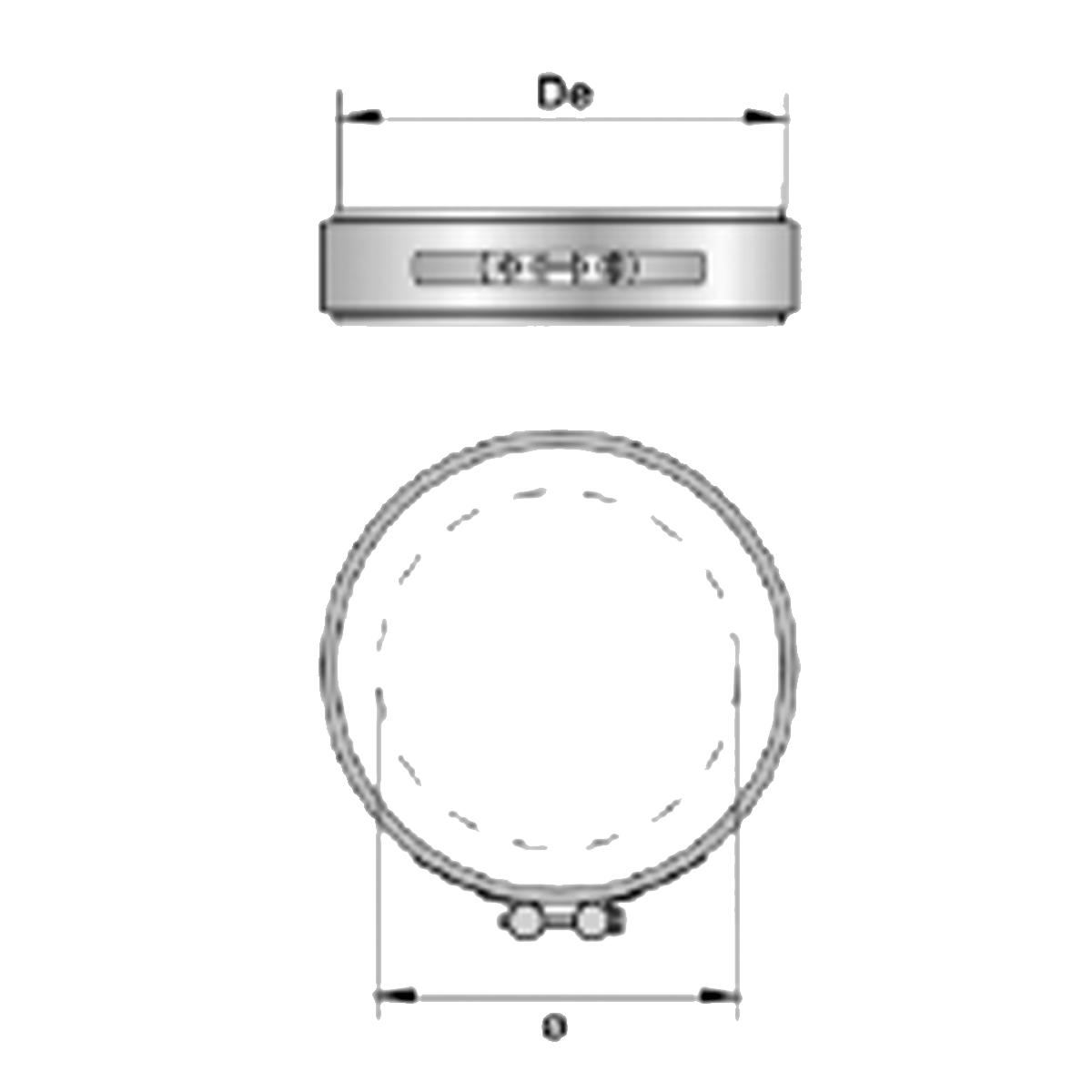 Afvoer DW klembeugel-Ø130mm