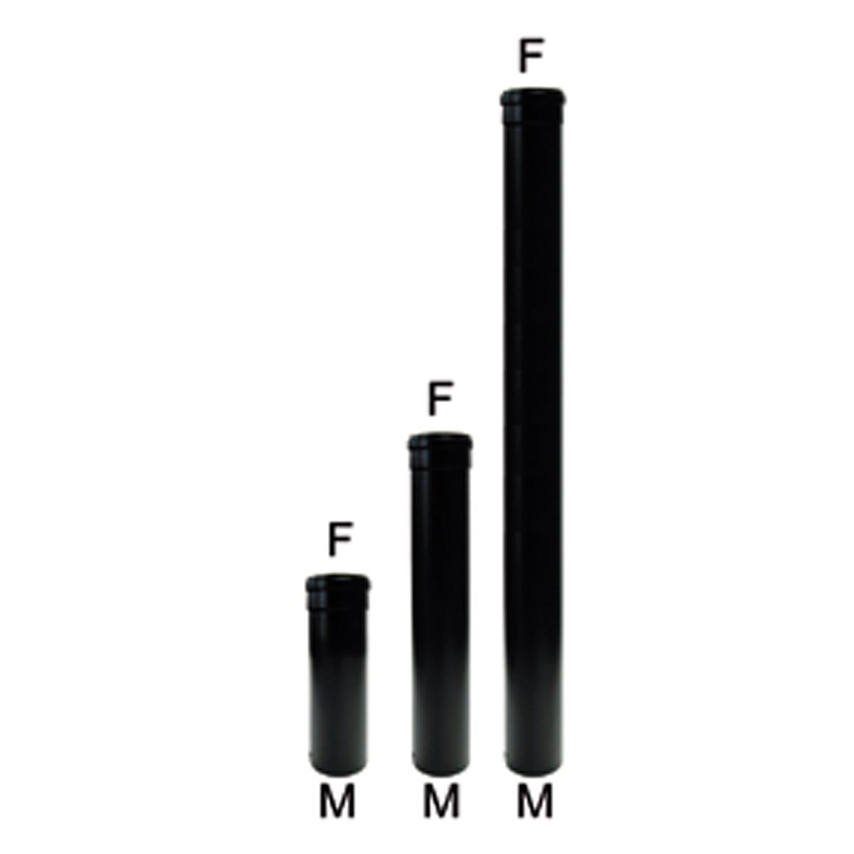 Afvoer buis 25cm Zwart-Ø80mm