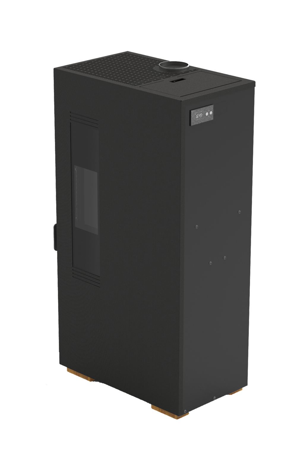 Mini pelletkachel 5 kW zwart