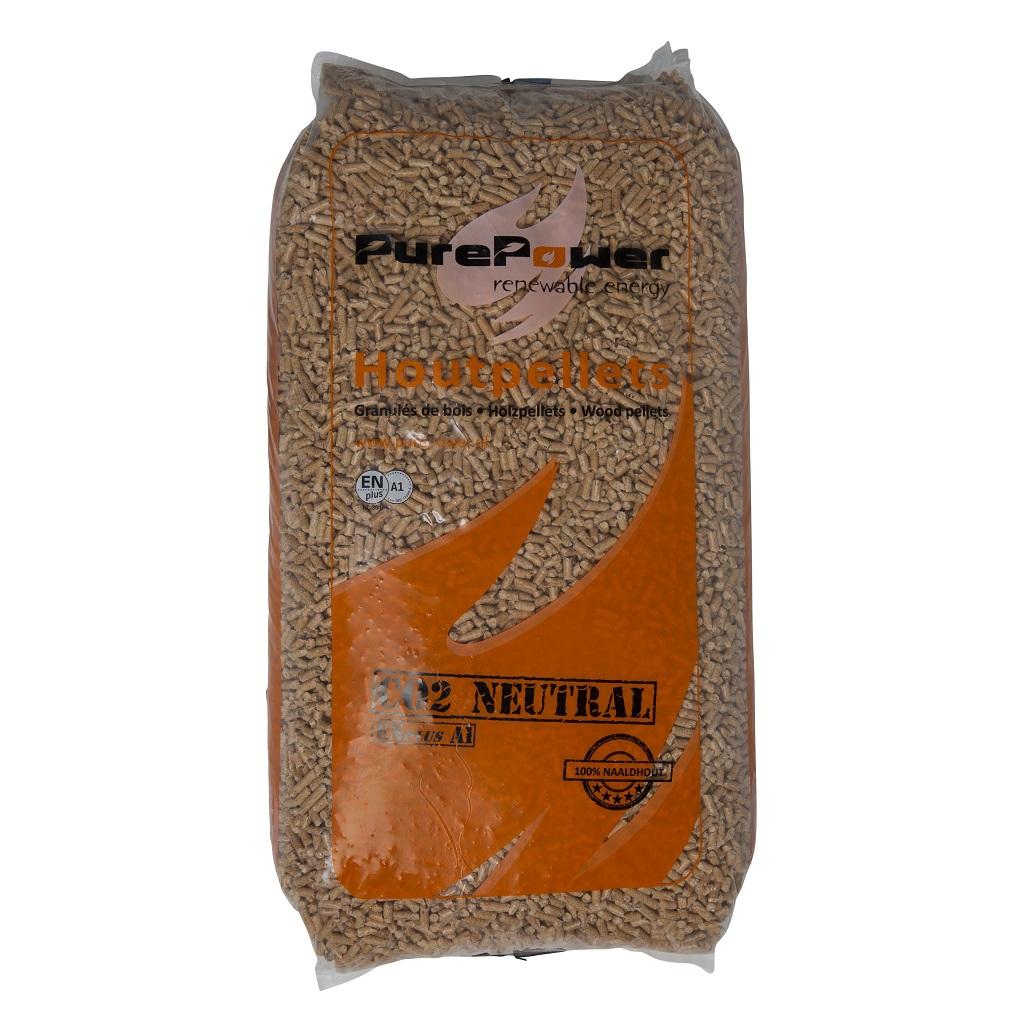 Houtpellets Purepower - 100% naaldhout - 66 Zakken