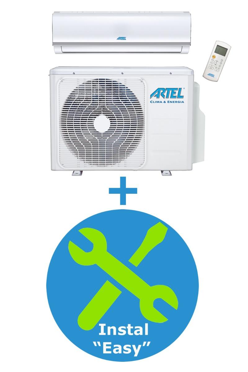 Airco Split 1x (2.8kw/9000BTU) + installatie Easy 3m
