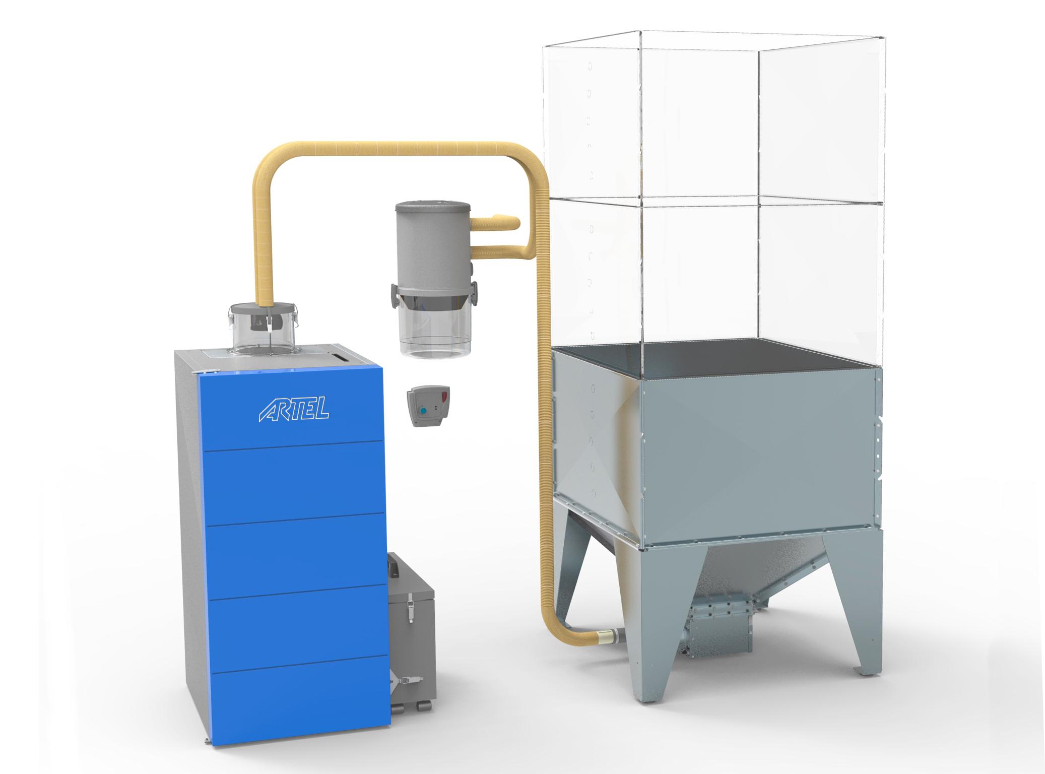 Pellet aanvoer systeem Compact