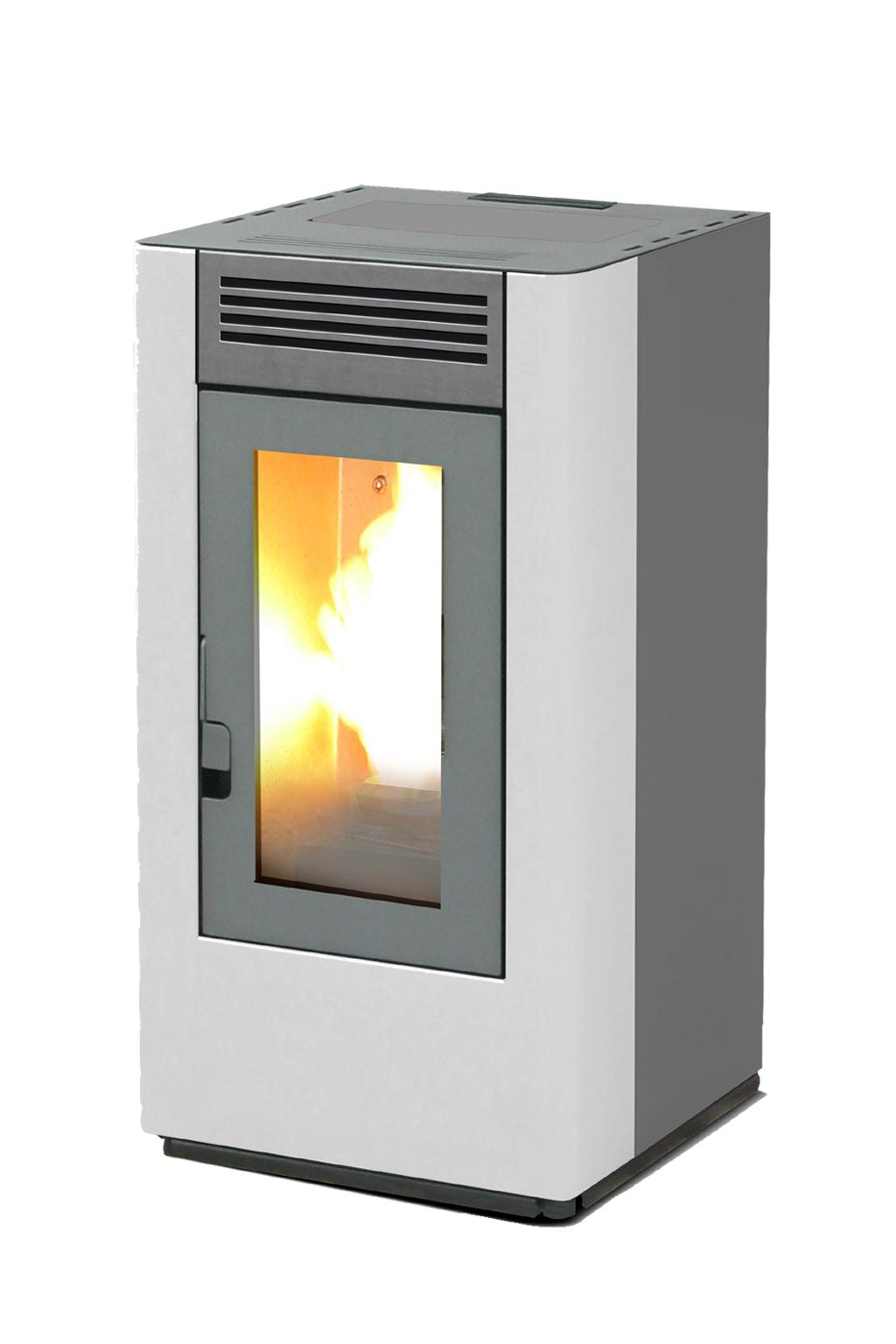 Italfuoco 8 kW wit/grijs