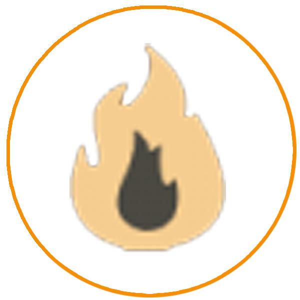 Terrasverwarmer met Pellet Vlam